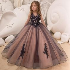 communion dresses on sale at reasonable prices, buy Hot Sale Ivory White Lace Flower Girls Dresses 2016 Ball Gown Belt Floor Length Girls First Communion Dress Princess Dress from mobile site on Aliexpress Now! Green Flower Girl Dresses, Princess Flower Girl Dresses, Lace Flower Girls, Princess Girl, Lace Flowers, Princess Birthday, Wedding Girl, Wedding Gowns, Party Wedding