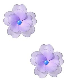This Purple Multilayer Hanging Flower - Set of Two by Heart to Heart is perfect! #zulilyfinds