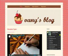 Retro webdesign. Blog. Cupcake.