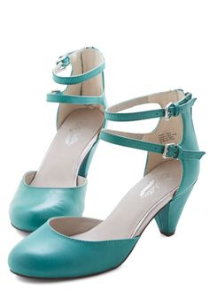 Marvel Heel in Jade by Seychelles - Mid, Leather, Green, Solid, Special Occasion, Prom, Wedding, Party, Cocktail, Vintage Inspired, 20s, Better, Variation