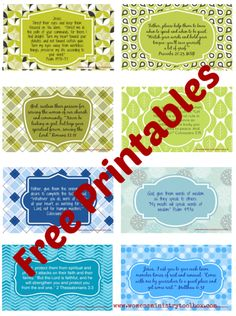 Pray for your women's ministry team with these free prayer cards from www.womensministrytoolbox.com
