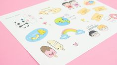 Lindos Stickers descargables de amistad ~ Craftingeek