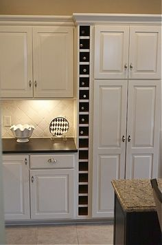 Kitchen Wine Rack Idea But I Dont Need This Much Storage