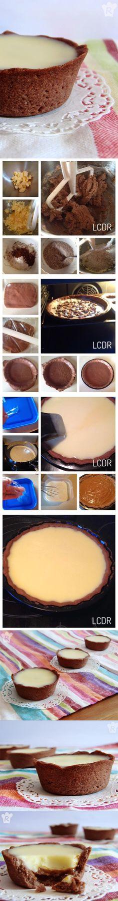 Tartaletas de chocolate con caramelo, http://lacocinaderebeca.blogspot.com.es