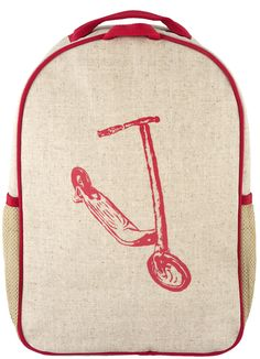Red Kick Scooter Toddler Backpack - SoYoung - eco-friendly bags and  accessories for the modern family - designed in Canada 028d323140a8a