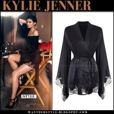 51d190ed97 I want her style - What celebrities wore and where to buy it. Celebrity  Style. Silk Kimono RobeKylie Jenner ...