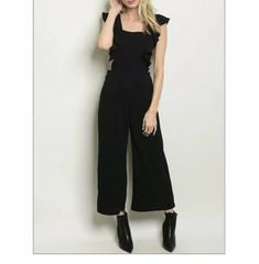 098c8bc09d6 Black Sexy WIDE LEG Romper JUMPSUIT sz Small Medium Large  fashion  clothing   shoes  accessories  womensclothing  jumpsuitsrompers (ebay link)