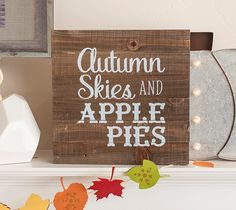 Autumn Skies and Apple Pies