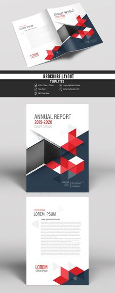 Annual Report Cover Layout with Red Accents. Buy this stock template and explore similar templates at Adobe Stock | Adobe Stock. #Brochure #Business #Proposal #Booklet #Flyer #Template #Design #Layout #Cover #Book #Booklet #A4 #Annual #Report| Brochure template | Brochure design template | Flyers | Template | Brochures | Flyer Background | Background design | Business Proposal | Proposal Design | Booklet | Professional | Professional - Proposal - Brochure - Template