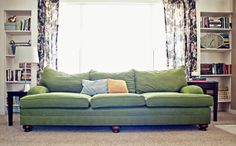 love this big oversized green couch