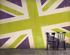 Large scale flag wallpaper. Love the modulation of scale. Great colors and vintage matte finish.