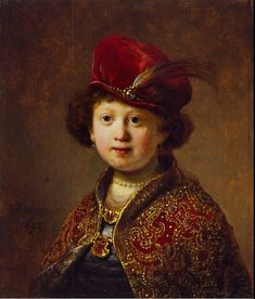 Rembrandt - A Boy in Fanciful Costume -  1633