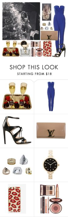 """""""Christmas Party with Sophia"""" by zandramalik ❤ liked on Polyvore featuring TFNC, Chloe Gosselin, Louis Vuitton, Topshop, Marc by Marc Jacobs, Skinnydip, Charlotte Tilbury and Gucci"""