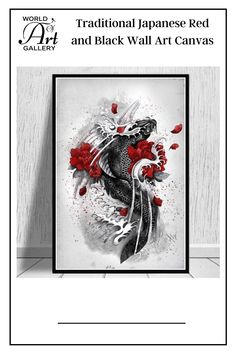 Hanging this Traditional Japanese Red and Black Wall Art Canvas will increase your sense of fun and vitality. Whether you decide to hang it in the living room, bedroom, kids' room, kitchen, lobbies, waiting rooms, lounges, dining rooms, office, hallway, bars, or beauty salon it will add more fun. We print the canvas wall art using top-quality ink, waterproof, and fade-resistant inks to ensure vibrant, long-lasting colors that remain vibrant even after decades of exposure to strong light. Bedroom Kids, Kids Room, Asian Wall Art, Black Wall Art, Waiting Rooms, Lobbies, Living Room Pictures, Traditional Japanese, Room Kitchen