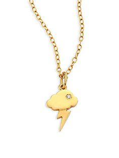 IAM by Ileana Makri Storm Cloud Pendant Necklace - Gold
