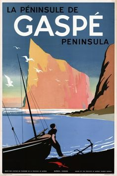 Gaspe Peninsula  #vintage #travel #poster #Canada