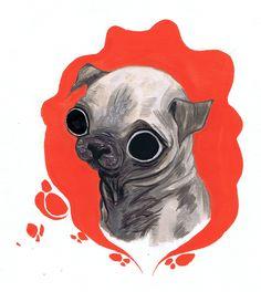 Pugs are so cute!!                                               A Pug Dog. by vitaminbee http://vitaminbee.deviantart.com/.