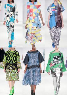 Graduate Fashion Week 2014   Catwalk Print  Pattern Highlights catwalks