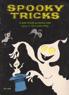 Vintage Mid Century Children's Halloween Book - Spooky Tricks - By Rose Wyler And Gerald Ames by on Etsy Retro Halloween, Halloween Books, Halloween Ghosts, Halloween Themes, Happy Halloween, Halloween Goodies, Halloween Images, 1980s Childhood, Childhood Memories