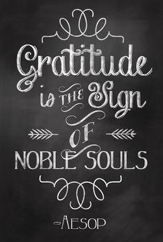 Gratitude Quote Chalkboard Art Sign Poster - Digital Print