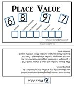 """Place Value File Folder Game  like """"top it"""" game for everyday math"""