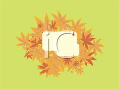 iCLIPART - Royalty Free Clipart Image of an Autumn Leaf Frame on Green