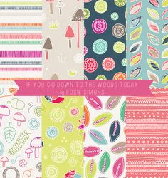 Rosie Simons Graphic and Surface Design: New Collection - If you go down to the woods today