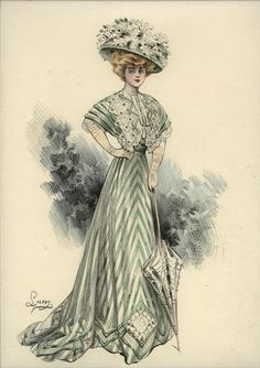 L'ART ET LA MODE engravings 1910-1912 ... date provided by eBay seller ... I think they are earlier