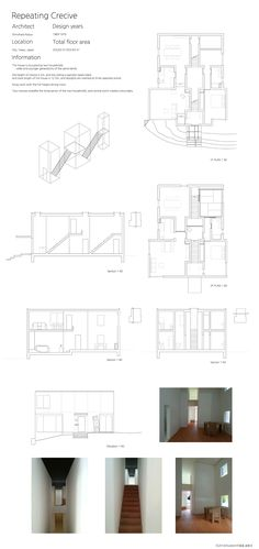 Repeating Crevice this drawing depends on my guess. it might be wrong. with model picture reference JA 93 Kazuo shinohara kazuo shinohara Casa house Modern Japanese Architecture, Model Pictures, Planer, Floor Plans, Flooring, How To Plan, Case Study, Room, Construction