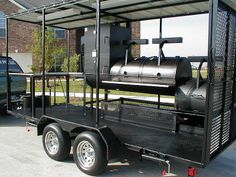 Trailer Smokers, Bbq Smoker Trailer, Bbq Pit Smoker, Fire Pit Bbq, Barbecue Pit, Steel Fire Pit, Custom Bbq Grills, Custom Bbq Pits, Food Truck