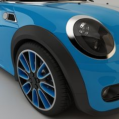 Mini Cooper Concept Coupe  would go perfectly with my 'bluehouse'