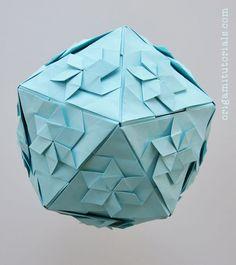 Mondrian Cube Cubo Modular Origami