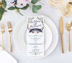 ♥️ AUTUMN FLORAL MENUS  This watercolor menu is a perfect match for your rustic fall wedding. The design features calligraphy-inspired free flowing fonts and a detailed hand painted wreath. Order now to makes these beautiful wedding menus a part of your unique love story. • 4 x 9.25      ♥️ PACKAGES  SIGNATURE: • 120# smooth white matte card stock  PREMIUM: • 100# textured white or ivory card stock  LUXE: • 110# ice pearlescent card stock • rounded corners       ♥️ INFORMATION