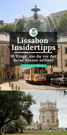 Städtereise Lissabon: Tipps und Tricks für eure Reise Lisbon in Portugal is a popular destination for a short break in Europe. I'll give you 10 insider tips for Lisbon that you should know before you leave. Best Places In Europe, Places To Travel, Places To Go, Lisbon City Break, Destinations D'europe, Short Vacation, Ville France, Reisen In Europa, Visit Portugal