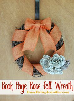This quick and easy fall wreath looks great on the front door