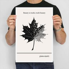 Literary Art Print John Keats Illustration Quotes by ObviousState