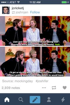 You've got to love Jennifer Lawerence and Josh Hutcherson <3