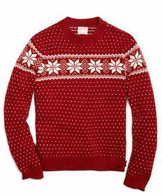 Snowflake Fair Isle Crewneck Sweater