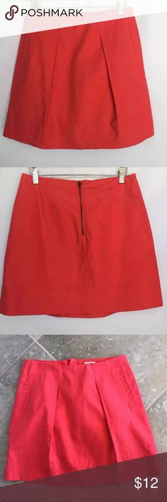 J. Crew orange Pleated mini skirt Gently used condition J. Crew orange Pleated mini skirt size 2. No stains or holes J. Crew Skirts Mini