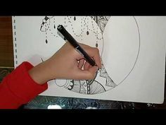 رسم هلال على هيئة مانديلا 1 Crescent Moon Drawing Youtube Art Drawings Art Drawings
