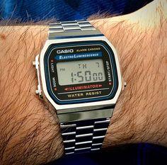 Dream Watches, Sport Watches, Luxury Watches, Cool Watches, Watches For Men, Casio Vintage Watch, Casio Watch, Vintage Watches, Casio Digital