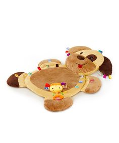 Take a look at this Brown Tags 'n' Snuggles Dog Play Mat by Taggies on #zulily today!