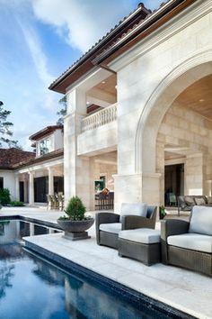 Classic Transitional - transitional - Patio - Houston - JAUREGUI Architecture Interiors Construction