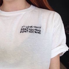 The 1975 Inspired 'Me' Embroidered Tshirt