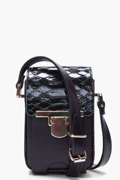Lanvin python camera bag