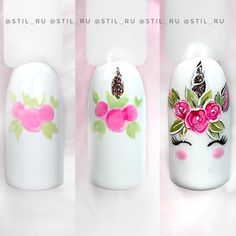 Spring Nail Designs - My Cool Nail Designs Cute Summer Nail Designs, Cute Summer Nails, Nail Designs Spring, Nail Art Designs, Summer Design, Spring Nail Art, Spring Nails, Unicorn Nail Art, Unicorn Nails Designs