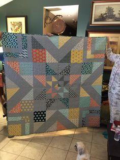 Joni's Christmas quilt 2015. Triple Barn Star pattern from Stitchery Dickery…