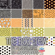 Boo! Did I scare you?  Shop the spooky prints in The Boo Crew by Sweetwater for Moda Fabrics