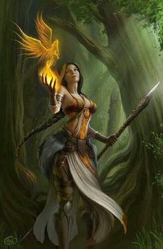 //And the phoenix rises #art #fantasy #illustration