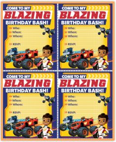 1000+ images about Blaze and The Monster Machines Birthday Party on Pinterest | Free Printables ...
